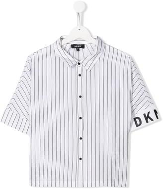 DKNY TEEN striped short-sleeved shirt
