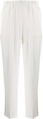 Peserico Stripe Detail Tapered-Leg Trousers