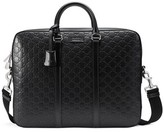 Gucci Men's Signature Leather Briefcase - Black