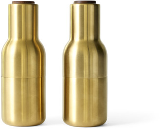 Menu Bottle Grinders - Set of 2 - Brushed Brass