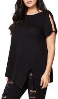 Rachel Rachel Roy Plus Solid Short-Sleeve Top