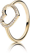 Pandora Gold Captured Heart Ring - Cubic Zirconia