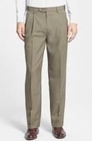 Men's Berle Self Sizer Waist Pleated Trousers