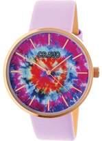 Crayo Swirl Leatherette Strap Watch