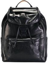 MCM logo buckle backpack - unisex - Leather - One Size