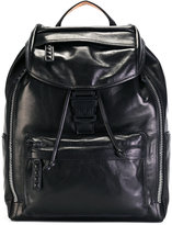 MCM logo buckle backpack