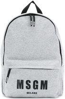 MSGM printed logo backpack