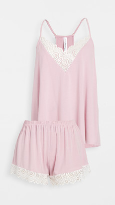Flora Nikrooz Floretta II Knit Cami Pajama Set with Lace Trim