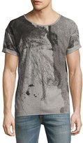 Nudie Jeans Map Mélange Loose-Fit T-Shirt, Gray