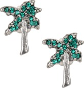 Marc Jacobs Charms Tropical Strass Palm Tree Studs earrings