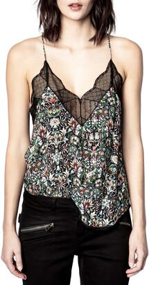 Zadig & Voltaire Christy Kaleido Floral Lace Camisole