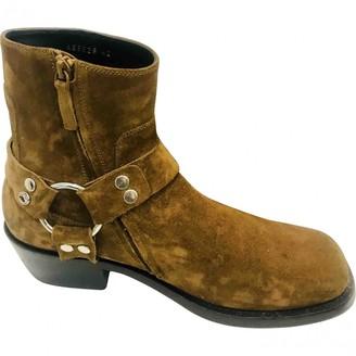 Balenciaga Camel Suede Boots