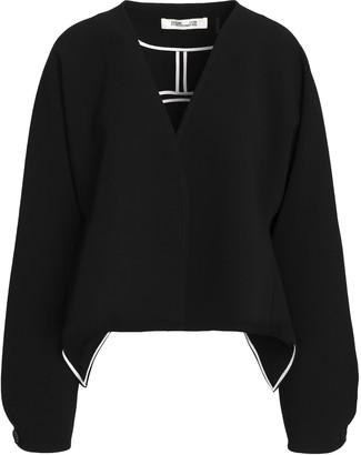 Diane von Furstenberg Draped Crepe Jacket