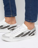 Religion Downtown Leather Sneakers With Suede Detail