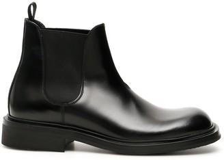 Prada Elastic Side Panelled Ankle Boots