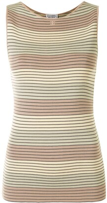 Chanel Pre Owned 1998 Striped Knitted Top