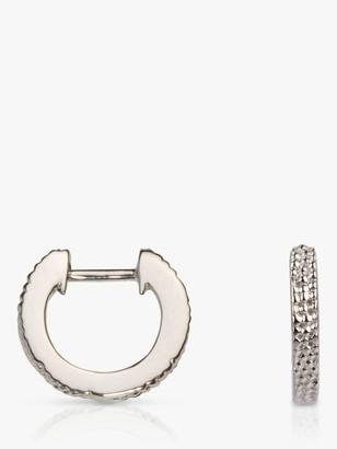 Wanderlust Emily Mortimer Jewellery Textured Mini Hoop Earrings