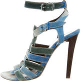Balenciaga Suede Multistrap Sandals