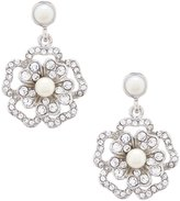 Carolee Grand Entrance Faux-Pearl Flower Double-Drop Statement Earrings
