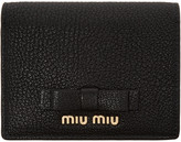 Miu Miu Black Leather Bow Wallet