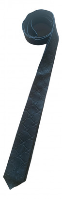 Gucci Black Leather Ties