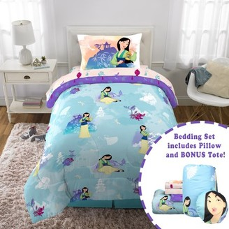 Disney's Mulan Twin Bed in a Bag Bedding Set, w/ reversible comforter, decorative pillow, and bonus tote!
