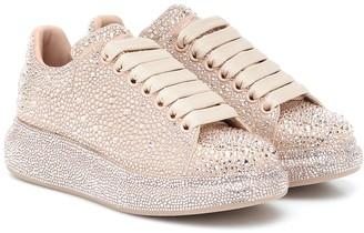 Alexander McQueen Embellished suede sneakers