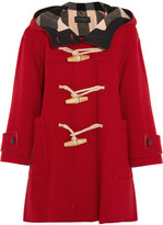 Burberry Oversized Wool-blend Duffle Coat - Red