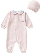 Feltman Brothers Baby Girls Newborn-9 Months Knit Coverall and Hat Set