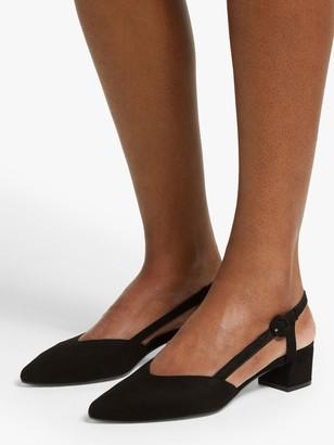 John Lewis & Partners Alyssa Low Heel Slingback Court Shoes
