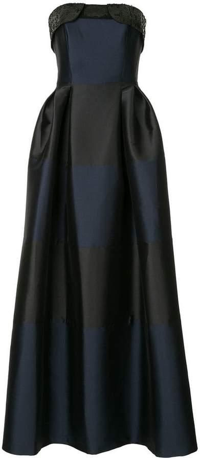 Sachin + Babi long strapless gown