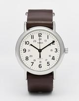 Timex Originals Weekender Watch With Leather Strap - Brown