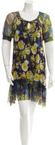 Fuzzi Floral Print Pleated Dress w/ Tags