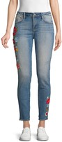 Driftwood Embroidered Floral Skinny Jeans