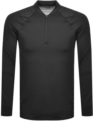 Under Armour Half Zip Long Sleeve T Shirt Black