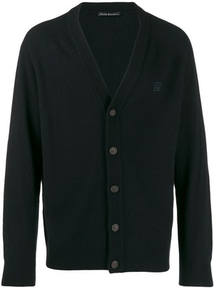Acne Studios Face Patch V-Neck Cardigan