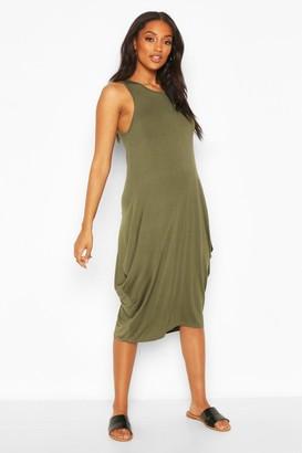 boohoo Maternity Drape Midi Dress