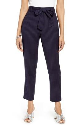 Halogen Brooklyn Pinstripe Tie Waist Pants