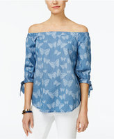 INC International Concepts Off-The-Shoulder Tie-Cuff Top, Created for Macy's