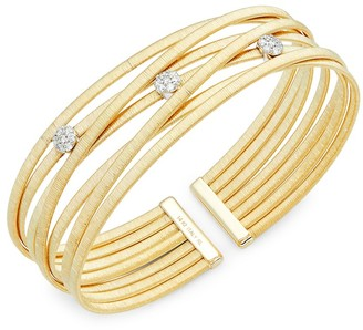 Saks Fifth Avenue Made In Italy 14K Yellow Gold Diamond Bangle
