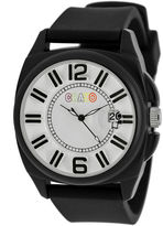 Crayo Sunset Black Silicone-Band Watch With Date Cracr3302