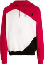 Versus contrast colour block hoodie