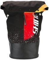 Maison Margiela printed foldover backpack - men - Cotton/Calf Leather/Polyamide/Spandex/Elastane - One Size