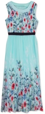 Rare Editions Big Girls Pleated Floral Maxi Dress