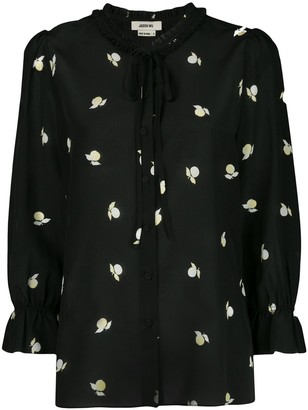 Jason Wu Printed Tied-Neck Blouse