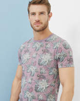 Ted Baker Tropical Print T-shirt Pink