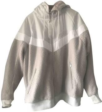 Nike White Polyester Jackets