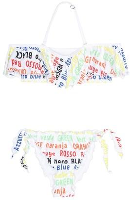MSGM Kids Printed bikini