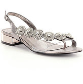 Adrianna Papell Daisy Crystal Medallion Sling Back Dress Sandals