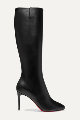 Christian Louboutin Eloise 85 Leather Knee Boots - Black